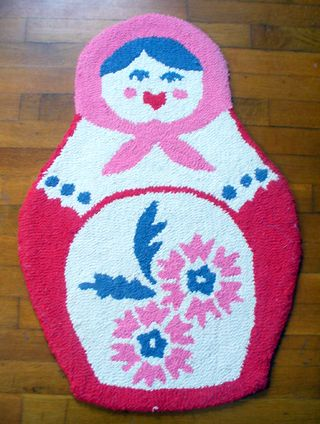 Kids room doll rug