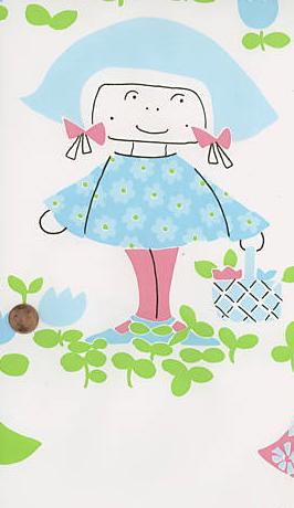 Wallpaper little girl blue
