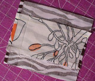 Gift bag diy seam sewn