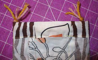 Gift bag diy sew top seam