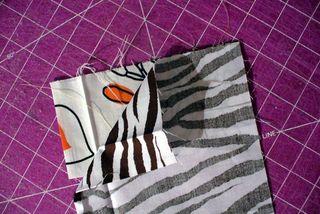 Gift bag right sides together