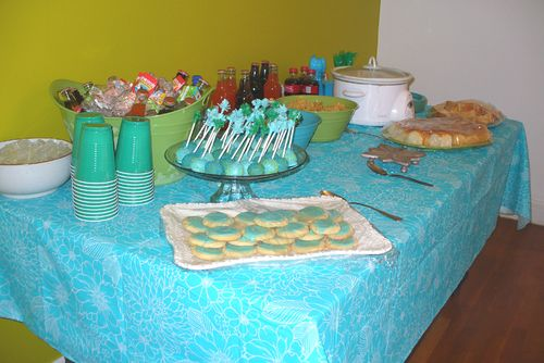 Birthday food table