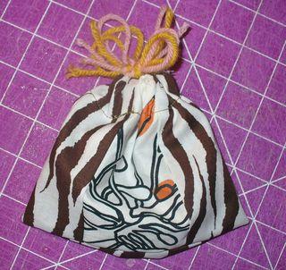 Gift bag diy finished tied