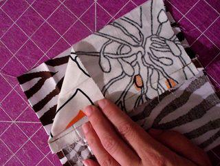 Gift bag diy right sides together 2