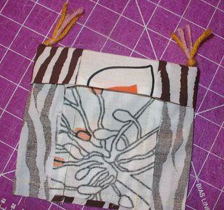 Gift bag diy tuck yarn
