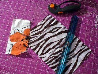 Gift bag cut fabric