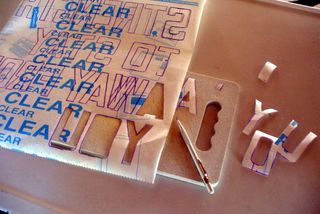 Create diy word art cut letters