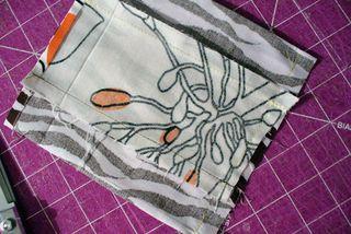 Gift bag diy sew bottom seam