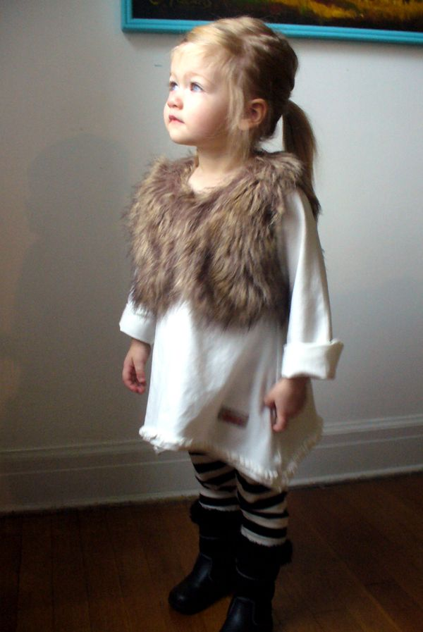 How We Dress Faux Fur Vest And Boots For My Little Fox