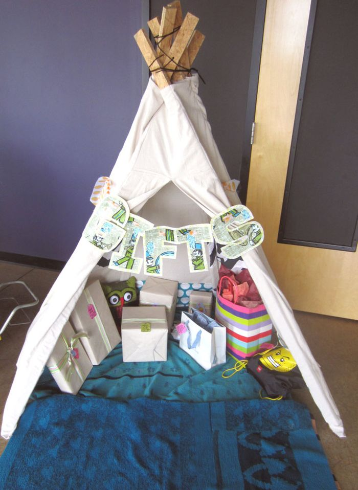 Gift teepee & diy. how to make a teepee tent part 1. - lovely chaos