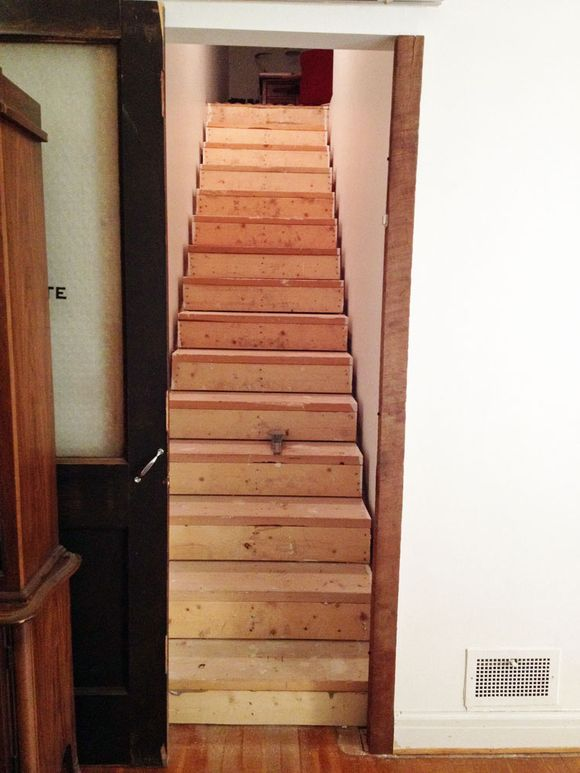 Renovations. A Finished Staircase.