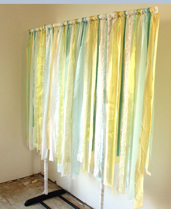Birthday banner ribbon garland 1