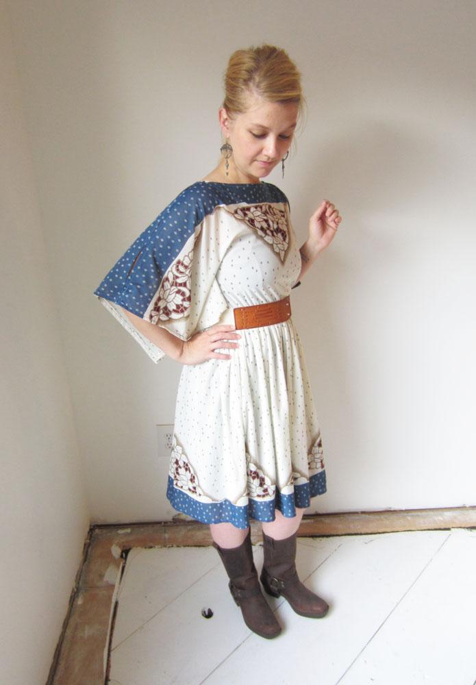Vintage hippie dress engineer boots anthropologie belt 2