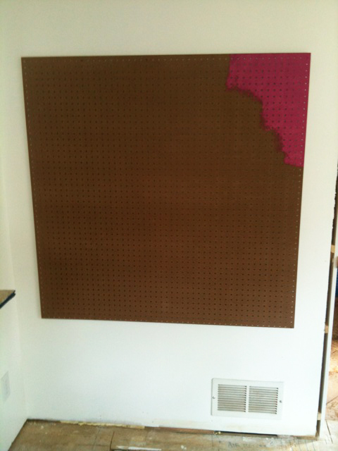 Diy pegboard wall art display 2