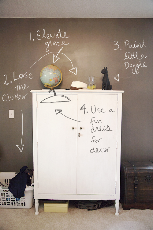 Simplify your dresser before