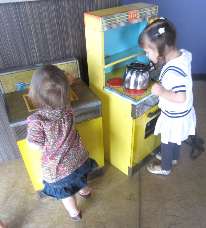 Kids playing w kitchen