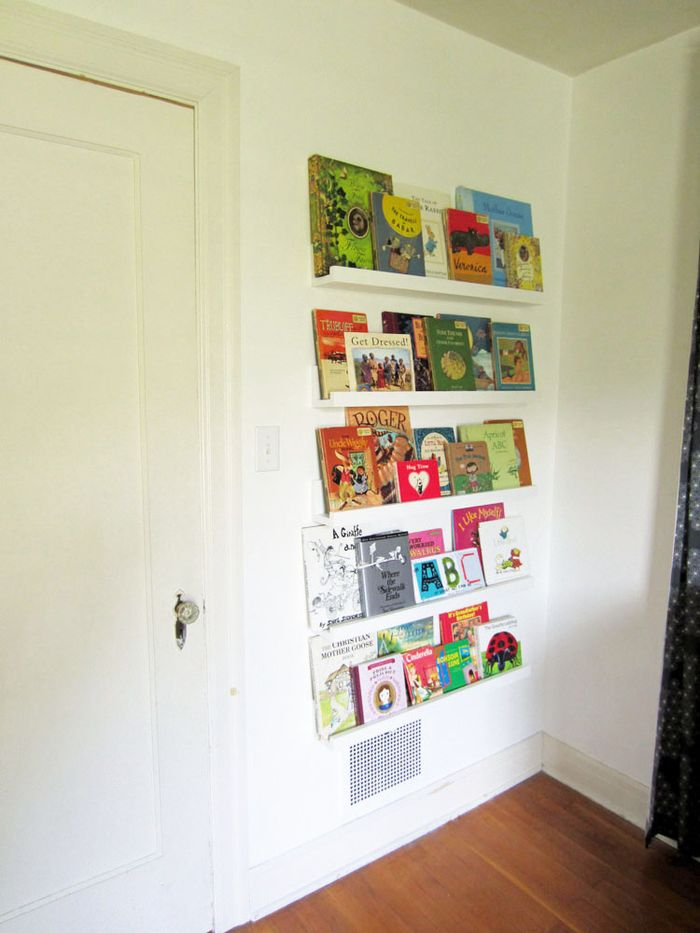Renovations wall shelves for the kids rooms lovely chaos for Book shelf for kids room