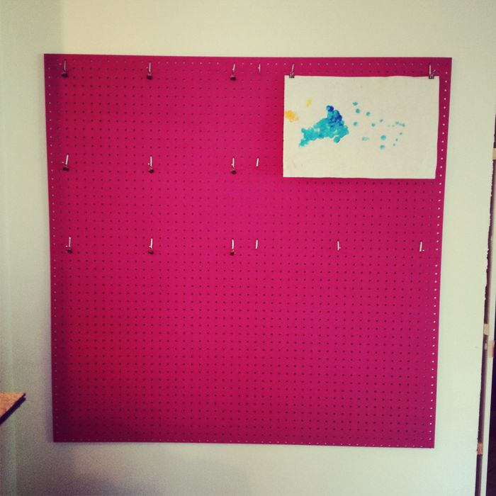 Diy pegboard wall art display tutorial 3