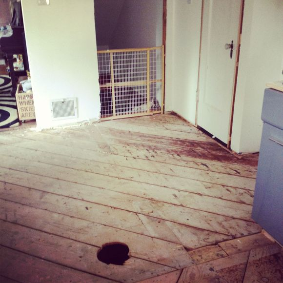 Wood flooring subfloors doors removed