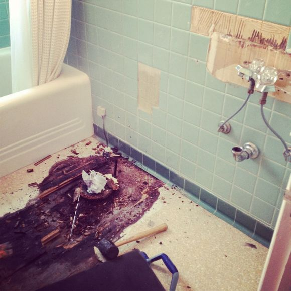 Bathroom floor rotted renovations