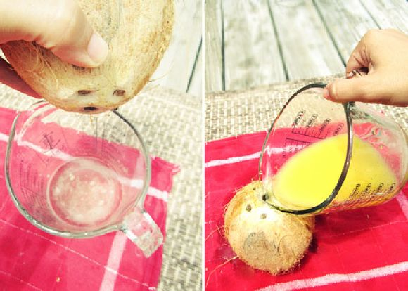 Diy coconut tropical drink 3