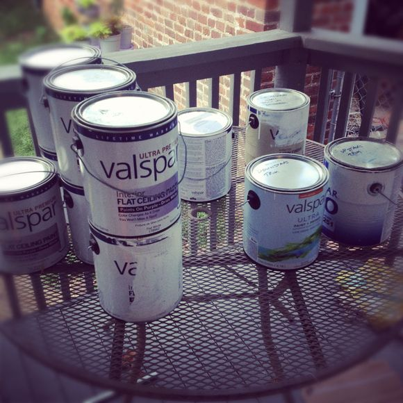 Diy paint cans painting house