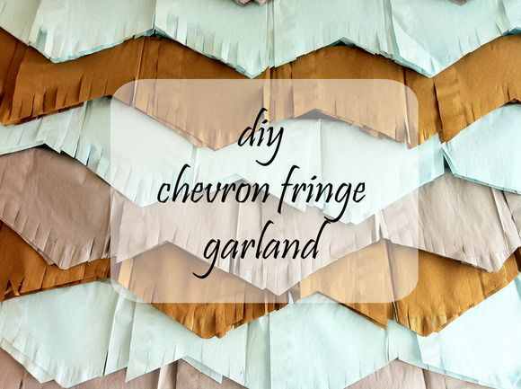 Diy chevron fringe garland bunting banner baby boy shower a copy