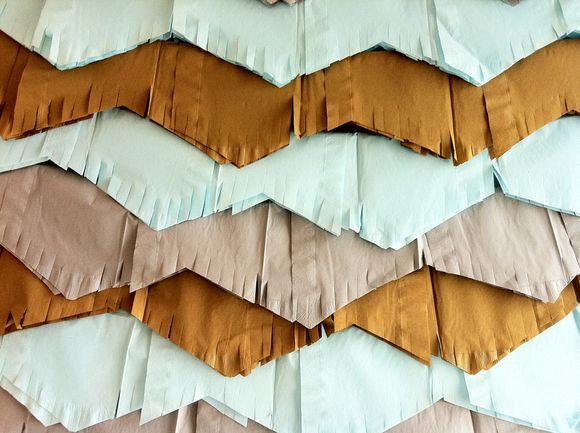 Diy chevron fringe garland bunting banner baby boy shower 7