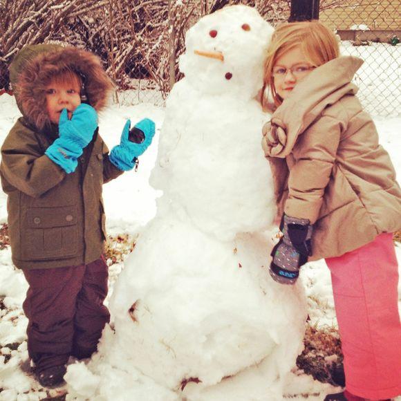 Feb our first snowman 2