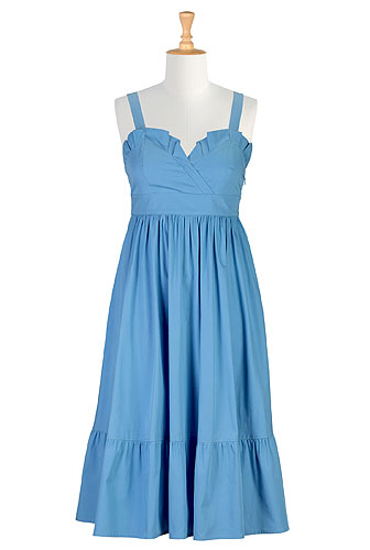Eshakti blue peasant dress