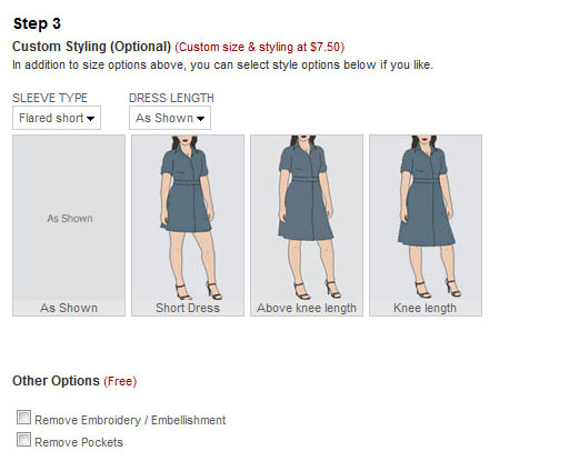 Eshakti customizable length dresses