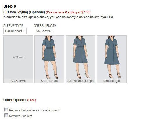 Eshakti customizable length dresses