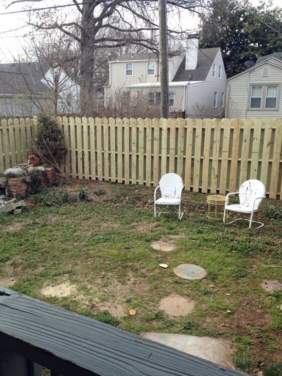 April renovations fence