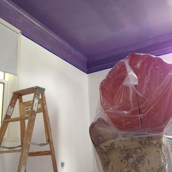 Painting lu's room purple 1