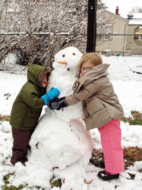Feb our first snowman