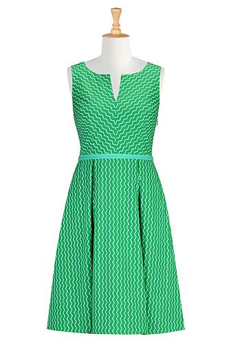 Eshakti retro style zigzag print dress