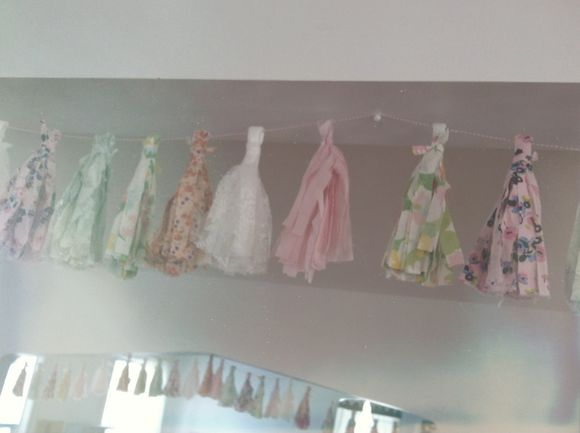 April birthday fabric tassel garland