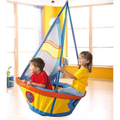 Magic cabin sailboat seesaw swing