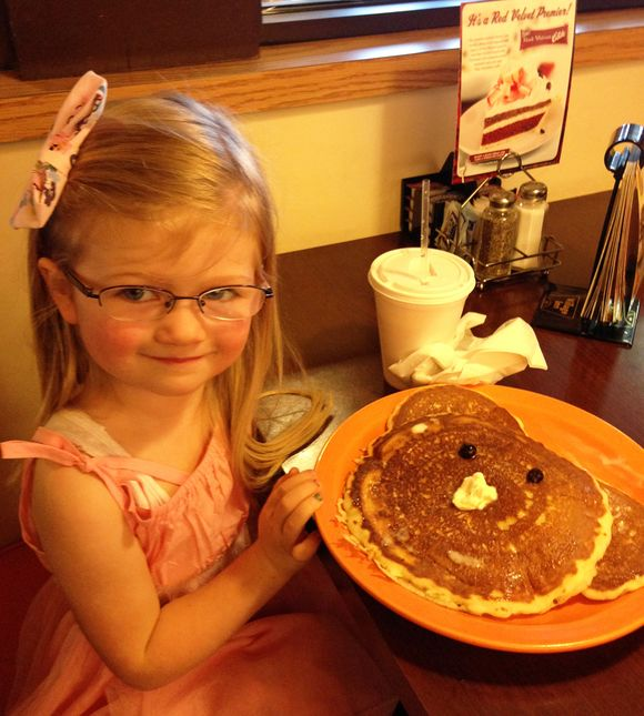April birthday pancakes with daddy