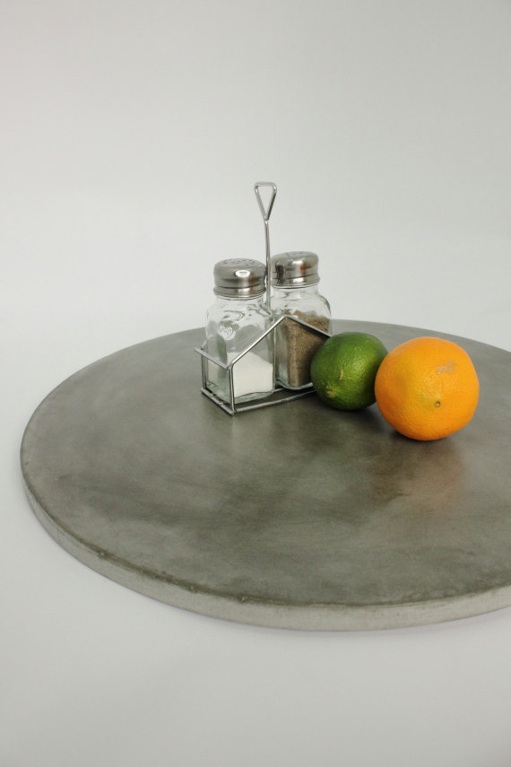 Concrete lazy susan the makerage 2