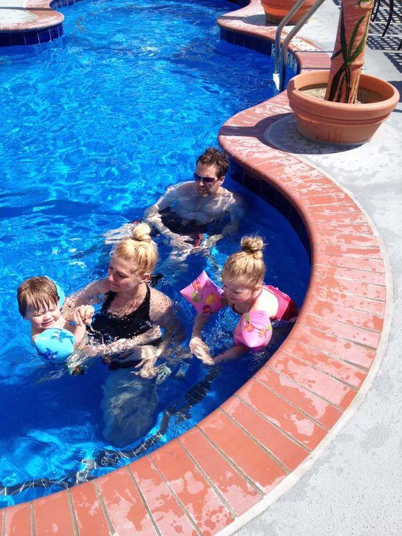 June trip ocean city pool me and d on slide