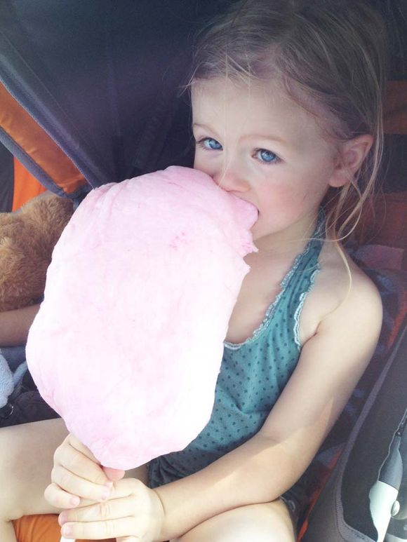 June trip hershey park lula w cotton candy