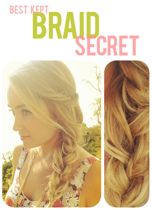 Braid in braid hairstyle