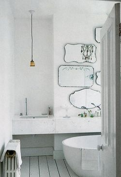 Bathroom white tile 2
