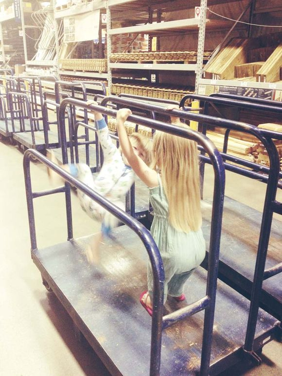 July gymnastics girl at lowes 2