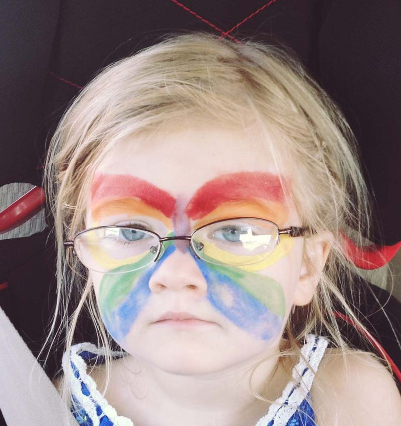 July butterfly festival painted face
