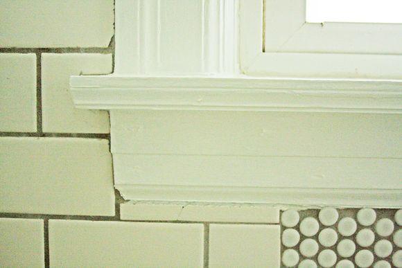 July renovations painting shower window 7b