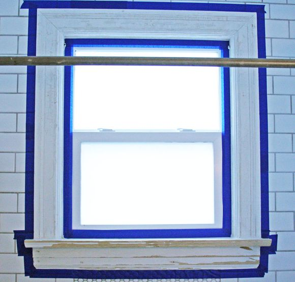July renovations painting shower window 3a