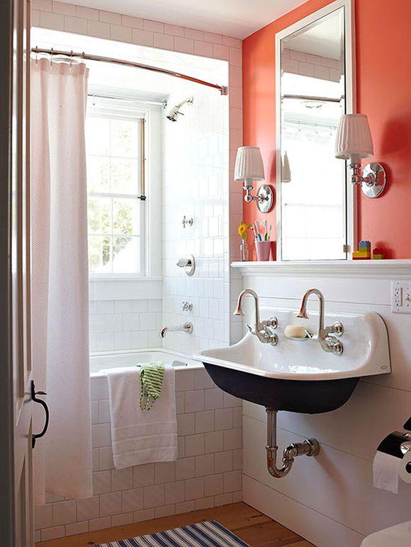 Bathroom black sink