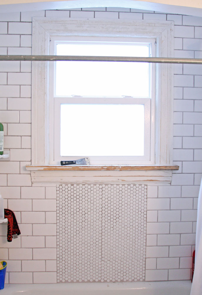 July renovations painting shower window 1a